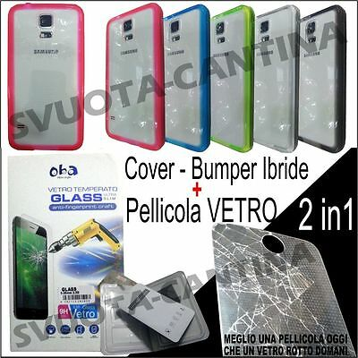 Bumper Custodia Cover Tpu + Pellicola Vetro Per Htc One Touch M9