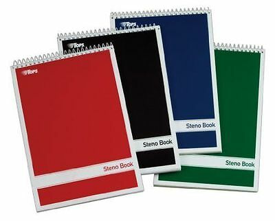 """TOPS Spiral Notebook Steno Book, Journal & Diary, Gregg Rule, White Paper, 6""""x9"""""""