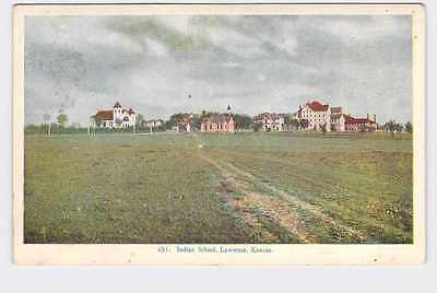 Antique Postcard Kansas Lawrence Indian School Campus 1915