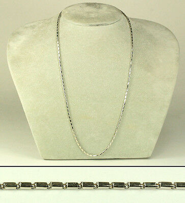 "18K White Gold Chain - 20"" Long 2 mm Wide"