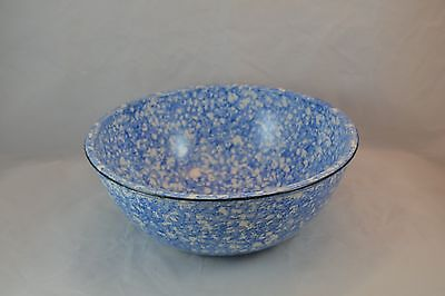 """Stangl """"Town and Country"""" Blue Splatter Chowder Bowl 6 3/4"""""""