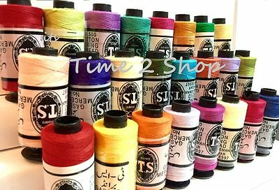 25 Pure Cotton Thread Spools Large Sewing All Purpose 100% 25 Demanding Colour
