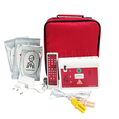 2 Sets AED Trainer First Aid Training Defirillator Simulator CPR AED Training