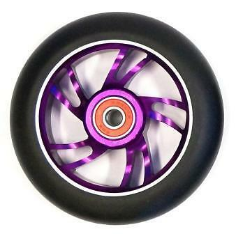 BulletProof Scooter Wheel Metal Alloy Core 110mm ABEC 9 Bearings PURPLE