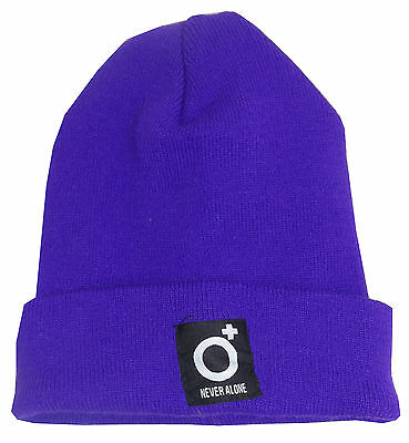Mens Blood Brother MA Carrier Purple Beanie Hat RRP £24.99 40072049014f