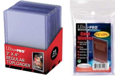 Ultra Pro Soft Card Sleeves (100) and Toploaders (25) - Pokemon MTG Protectors