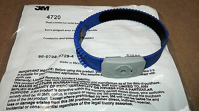 NEW 3M 4720 Dual Conductor Thermoplastic Wrist Strap for Monitors (Blue)