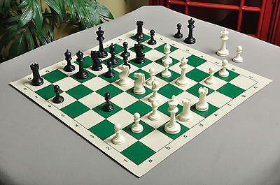 """Competition Plastic Chess Set - Pieces Only - 3.75"""" Black & white"""