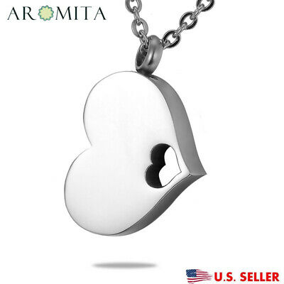 VALYRIA A Piece of My Heart Cremation Jewelry Keepsake Memorial Ash Urn Necklace