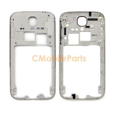 Rear Mid Silver Frame Bezel Chassis Housing for Samsung Galaxy S4 GSM I337 M919