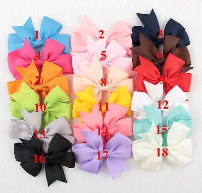 DIY 18pcs Satin Ribbon Bow Applique/craft/wedding decration/Clothing Accessories