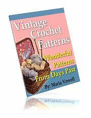 Sale E Book - Elegant 20 Vintage Crochet Patterns On Cd