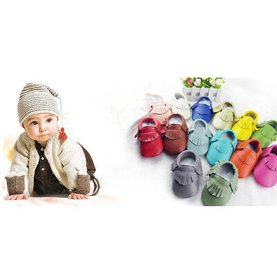 Leather Baby Moccasins with Tassels for Infant Toddler Boys Girls Unisex Shoes