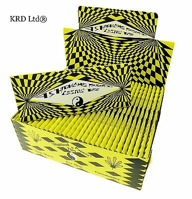 Genuine COSMIC HIGHLAND King Size Large Rolling Papers Tips 30 Booklets FULL BOX