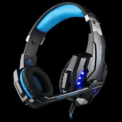 3.5mm Gaming MIC LED Light Headset CellPhone Headphone For PS4 Xbox One Laptop
