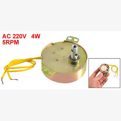 Yellow Wired AC 220V 50/60Hz 3 Watt 5RPM Synchronous Motor BF