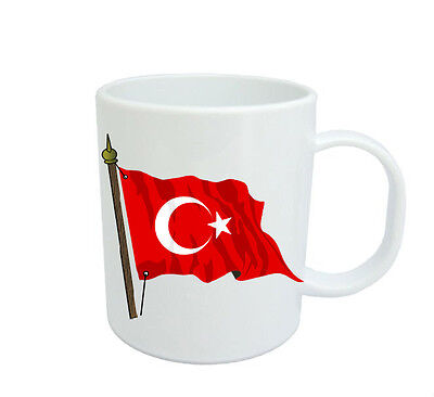 Turkish  Flag  Coffee Mug Free Personalisation Turkey