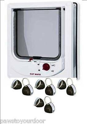 Pet Mate 254w Cat Mate Electromagnetic Pet Cat Door 4 Way Locking with 8 magnets