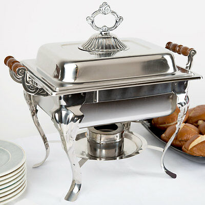 Choice Classic Half Size 4 Qt. Stainless Steel Chafing Dishes Catering