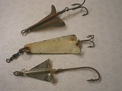 3 Early Vintage Mackeral Spinner Lures