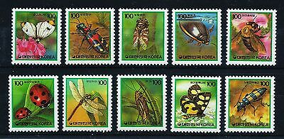 Korea 1991 complete set Bugs Insects Michel 1655-1664 MNH