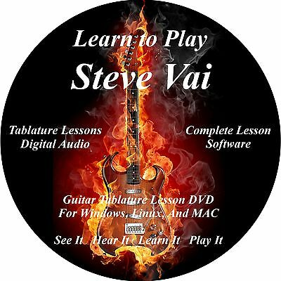 Steve Vai Guitar TABS Lesson CD 183 Songs + Backing Tracks + BONUS!!