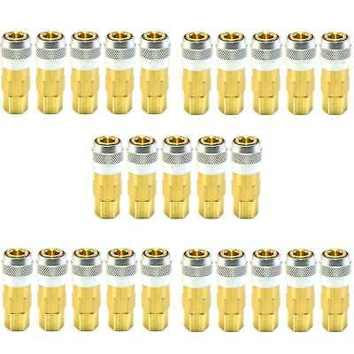 25 Lincoln Quick Coupler Air Hose Connector Fittings 1/4 NPT Tools Plug L Style