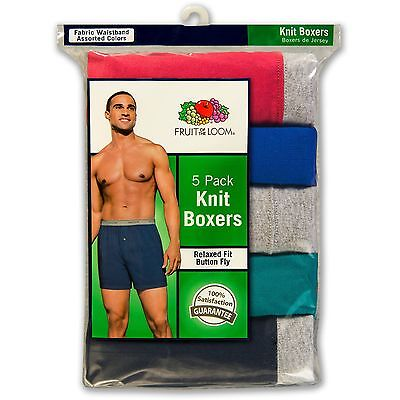 Fruit of the Loom Men's Knit Boxers 5Pk & 6Pk