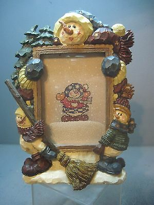 Barnaby's Snow Sweep Service Picture Frame**1998**Boyds Bear Collectible**Rare