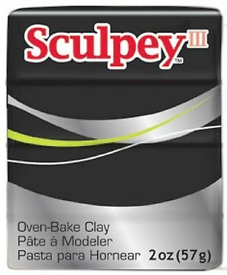 SCULPEY III - Polymer Clay - 57g - BLACK