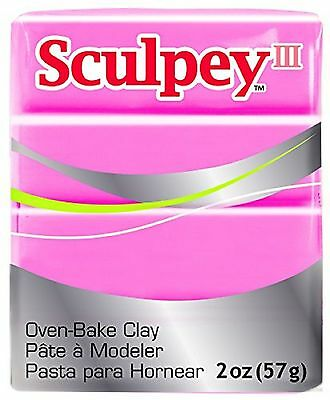 SCULPEY III - Polymer Clay - 57g - HOT PINK