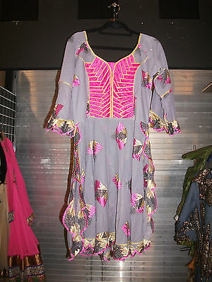 African 3 Pc Ladies Lace Dress Cotton Lavender Pink Embroidery