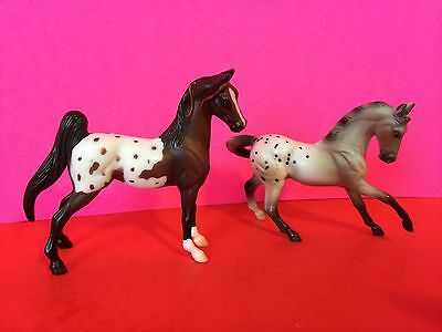 Lot Of 2 Vintage 1999 Breyer Reeves Painted Horses Collectible Gift