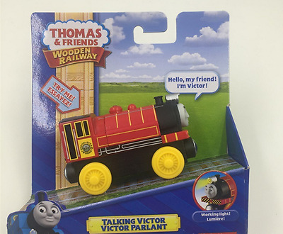 NEW WOODEN THOMAS friend The Tank Engine Train- victor noise light TALKING