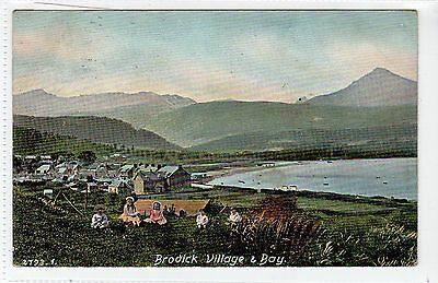 BRODICK VILLAGE & BAY: Isle of Arran postcard (C14164)