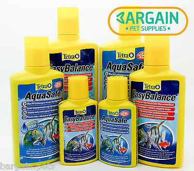 Tetra Aquasafe & EasyBalance TWIN PACK ALL SIZES Water Conditioner NO3 Chlorine