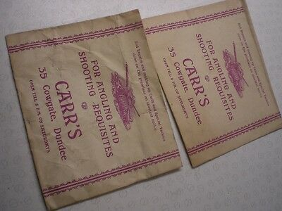 2X Carr's Of Dundee Fishing Advertising Envelopes