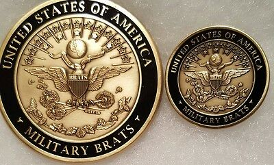 1st LE Military Children (Brats) ID Seal Challenge Coin & Pin Set (Made in USA)