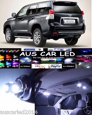 Toyota Landcruiser Prado 150 Series LED Interior Light Kit/Pack - 10 Pcs White