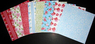 "*ROSE GARDEN* Beautiful Papers x 18- 15cm x15cm (6 x 6"") Scrapbooking/Cardmaking"