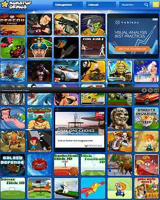 Ready To Run Arcade Gaming Website For Sale -  FREE HOSTING FOR LIFE