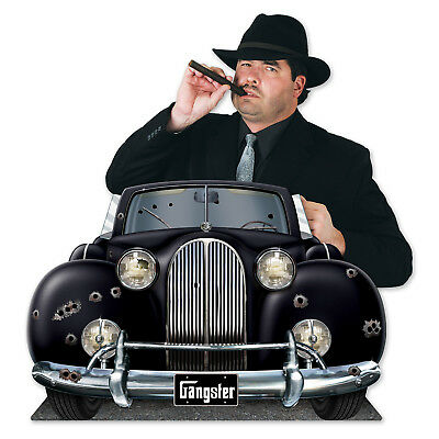 Roaring 20's GANGSTER Roadster Car PHOTO PROP Birthday Party Decoration