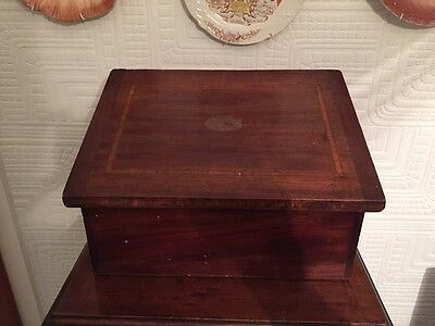 Lovely Edwardian Mahogany Inlaid Storage Box