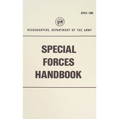 "New Army ""SPECIAL FORCES HANDBOOK"" ST31-180 200 Pages"