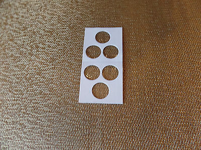 2x2 10 Pkg 3 hole Penny Cent Dime Coin Holders Flips Fee Shipping USA Seller