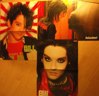 3 german poster TOKIO HOTEL NOT SHIRTLESS BILL TOM ROCK POP BOY BAND BOYS TEEN