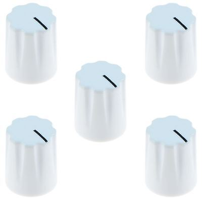 "5 x White Davies 1900H Style 1/4"" 6.35mm Guitar Potentiometer Knob"
