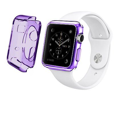 Apple Watch Case Cover iWatch Protector Screen Bumper 38mm Purple Thin Flexible
