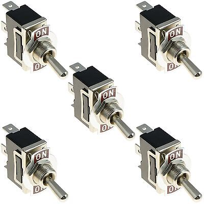 5 x On-On Standard Toggle Switch SPDT 15A 250VAC