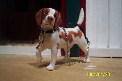 Jaapi BLACK small dog collar w/chain leash for Breyer Animals, not for real dogs
